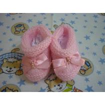 Lindo Sapatinho De Lã Em Tricô Para Bebê