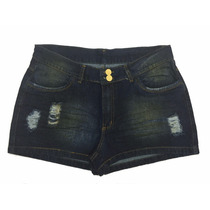 Short Feminino Jeans Rasgado Plus Size 44 Ao 60