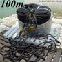 Corda Para Caminhão Preta 100 M Trançada Poliéster Estática