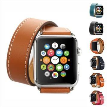 4ce4a1b03e5 Pulseira Couro Double Tour Hermes Apple Watch Series 1 2 3 4