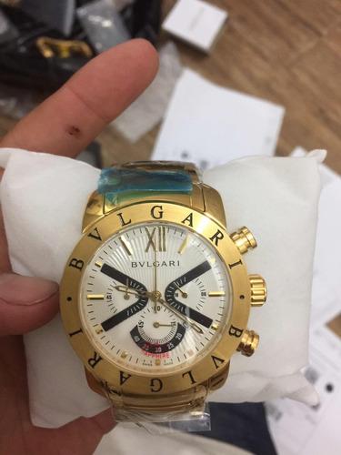 aa8209e6d18 Relógio Bvlgari Iron Man X Limited Dourado Fundo Preto - R  379 en ...