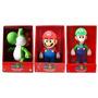 Kit Com 3 Bonecos Super Mario,luigi E Yoshi Retro Clássico