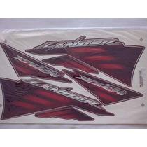 Jogo Adesivo Xtz 250 Lander 2007 Vermelha - Frete R$9,90