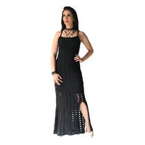 1372a276b6e7 Busca vestido longo de trico com mangas longas com os melhores ...
