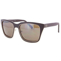 Óculos De Sol Guess Metal Marrom Dourado Lente Marrom
