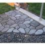 Forma Piso Jardim Calçada Concreto . Aluminio - 43x42x4