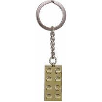 Chaveiro Lego Brick Chrome Gold 850808 Original
