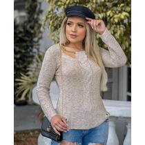 6a6ba0844c Busca Blusa Tricot tricô Feminina Outono Inverno com os melhores ...