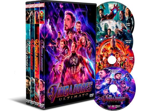 Dvd Box Os Vingadores 4 Filmes + Versão Estendida