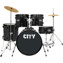 Bateria Acústica Planet City Completa 22 C1019bk Preta