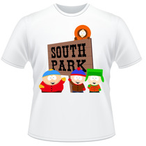 Camiseta Infantil South Park Kyle Stan Eric Kenny Camisa