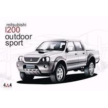 Parachoque Dt L-200 Sport Outdoor Gls Mitsubishi 2004/2012