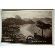 Rio De Janeiro Cartão Postal Antigo Panorama Copacabana