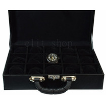 Caixa, Maleta, Estojo Luxo Porta 15 Relógios Frete Grátis