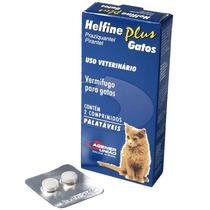 Helfine Plus - Vermífugo Para Gatos C/ 2 Comprimidos