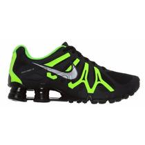 Nike Shox Turbo + 13 Preto/verde Original Frete Grátis