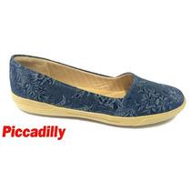 20%off Alpargata Piccadilly Jeans Marinho Conforto 107001