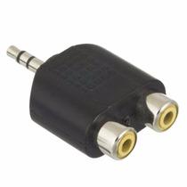 Adaptador Y Plug P2 Macho X 2 Rca Femea Som Stereo Auxiliar