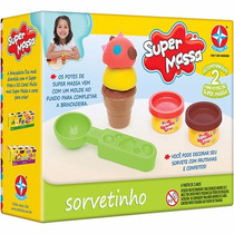 Novo Brinquedo Super Massa Sorvetinho Da Estrela Massinha