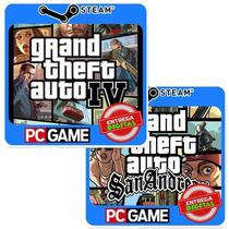 Grand Theft Auto Iv + San Andreas Pc Steam Cd-key Gta4