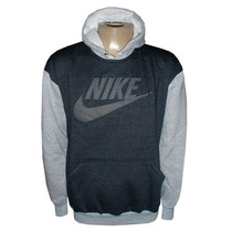 Blusa Moletom Nike Duas Cores Chumbo E Cinza Nk23