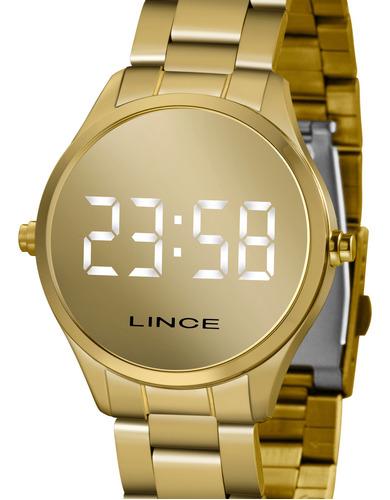 Relógio Lince Feminino Digital Dourado Mdg4617l Bxkx