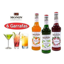 Xarope Para Soda Italiana - 6 Garrafas De Monin 750ml