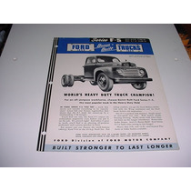 Folder Ford Picape Pickup F-5 F5 Comercial 48 49 50