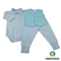 Kit 3 Conjunto Body/culote Bebê Kero Kollo Direto Da Fabrica