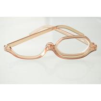 Óculos De Grau P/ Maquiagem Marrom Claro Fem +3,5 C63