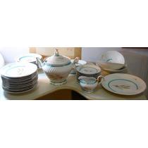 Antigo Jogo De Jantar Em Porcelana Schmidt Raro Década De 50