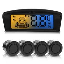 Sensor De Estacionamento Ré 4 Pontos Display Lcd Ambar Azul