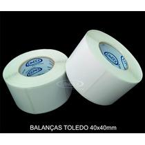 Etiqueta 40x40 Balança Toledo Prix 4, Prix 5 Plus, Flex, Due