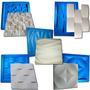 5 Formas Gesso 3d De Plástico C/ Borracha Digitalartrio Kit5
