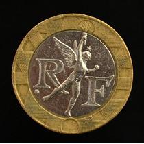 Moeda Da França 10 Francs Datas Variadas Bimetalica