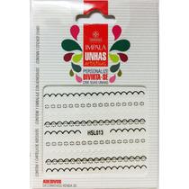 Exclusivo Adesivo Decorativo De Unha Renda 3d Preta Branca