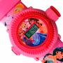 Relógio Infantil Pulso Disney Original Princesas Projetor.