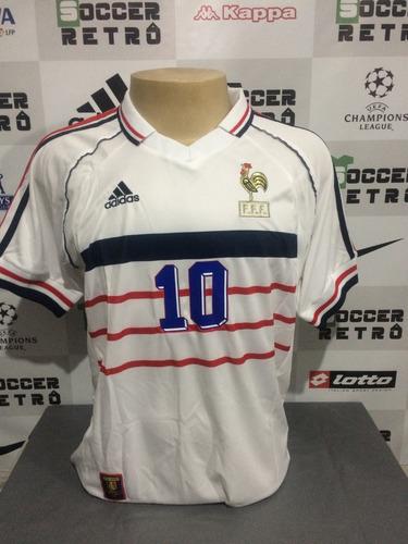 Camisa França Away Copa Do Mundo 1998 Zidane 10. R  249 37b4d5cc6b686