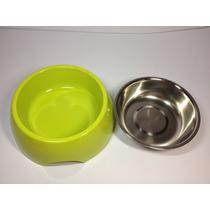 Pote Vasilha Inox Água Ração Para Cachorro Cães Gatos - M