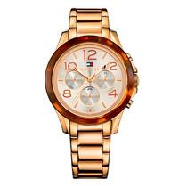 Relógio Tommy Hilfiger Masculino Dourado Original - Novo