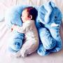 Almofada Elefante Pelúcia 55c Travesseiro Bebê Recém Nascido Original