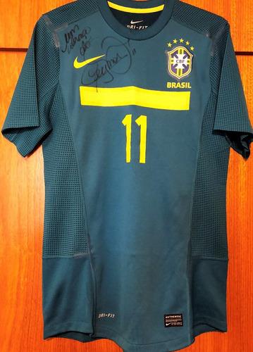 270cb0c3b147a Camisa Do Brasil Usada Em Jogo   Autografada Neymar Jr.