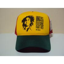 Boné Bob Marley Jamaica Reggae Trucker Snapback