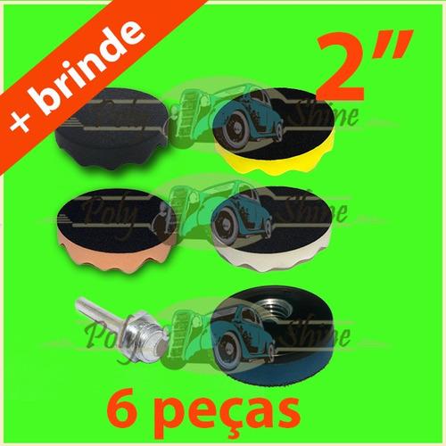Kit Polimento - Boinas De Espumas + Suporte 2 Polegadas. R  86.5 315f8f3fbd7