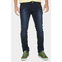 Calça Jeans Skinny Azul Escuro Kla Estilo Levi