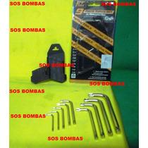Chave Torks 09 Peças Aço Cromo Para Reparo Moto Hornet 600
