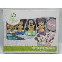 Móbile Disney Giratório Musical P/ Berço Turma Mickey Baby