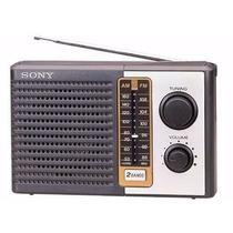 Radio Portatil Am Fm Sony Icf-f10, 2 Bandas Novo Lacrado