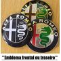 1 Emblema Alfa Romeo 74mm Capô P. Mala Preto Dourado Cromo