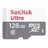 Cartão De Memória Sandisk Sdsquns-128g-gn6ta Ultra Com Adaptador Sd 128gb